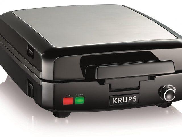 KRUPS GQ502D Adjustable Temperature Belgian Waffle Maker
