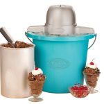 Nostalgia ICMP400BLUE Vintage Collection 6-Quart Electric Ice Cream Maker